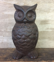 Cast Iron Owl Doorstop Door Wedge
